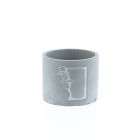 Concrete pot Olaf ES9 gray