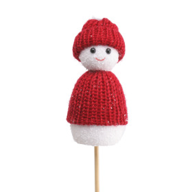 Snowdoll Macy 10cm on 50cm stick red
