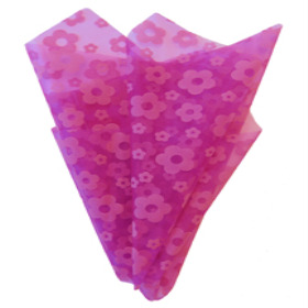 Organza Daisy 20x28 in hot pink with hole