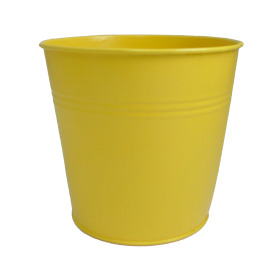 Tin Pot 6in yellow