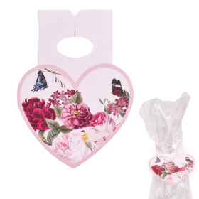Clip Heart Amora 8x10cm red/pink