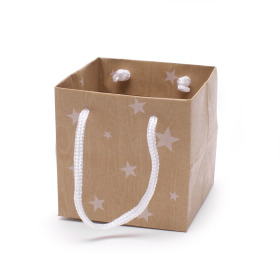 Tas Dream Stars 11,5x11,5x11,5cm natural