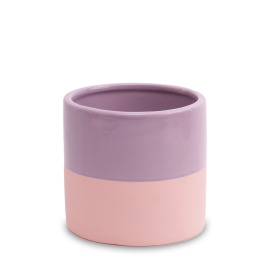 Ceramic Pot Soft Touch 5in Mauve Mist