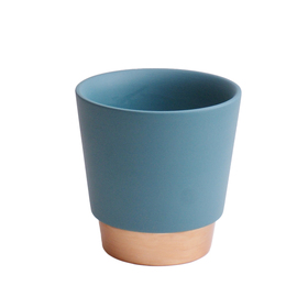 Ceramic Pot Elegance 5in blue