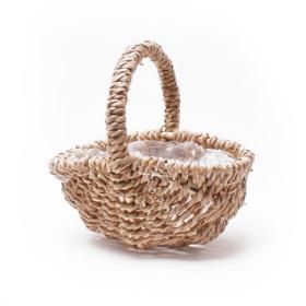 Harvest Basket with Handle 29cm brown