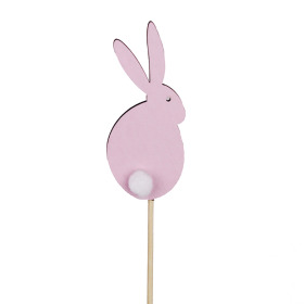 Sweet Bunny 3.5 in on 20 in stick pink