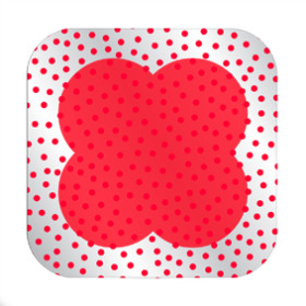 Dots Sheet 24x24 in red