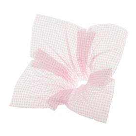 Bouquet holder Nonwoven Squares 25cm pink
