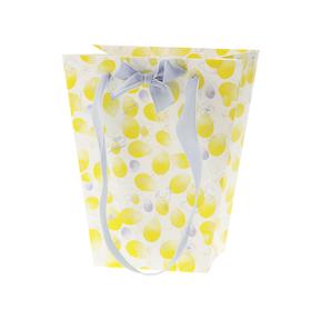 Draagtas Easter Blossom 17/13x11x20cm FSC Mix lila/geel