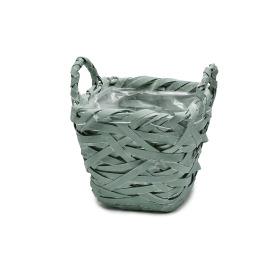 Basket Tess 15x15 H14cm green