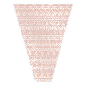 Sleeve Vintage Lace V-shape 50x35x10cm salmon