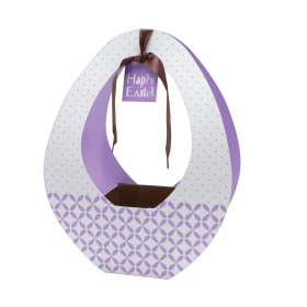 Easter gift bag Festival 26x12x35cm purple