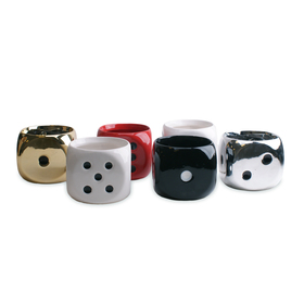 Ceramic Dice Pot 12.5x12.5x11.7cm
