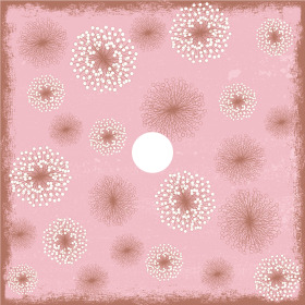 Flower Field 24x24in pink H3
