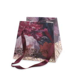 Bag Divine 5/5x7/7x6 in burgundy