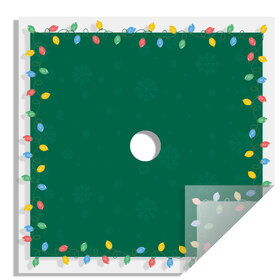 Christmas Bulb 24x24in green H3