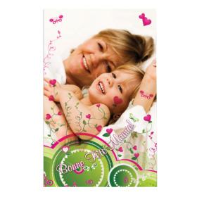 Card Bonne Fête Mamie 5x8cm green