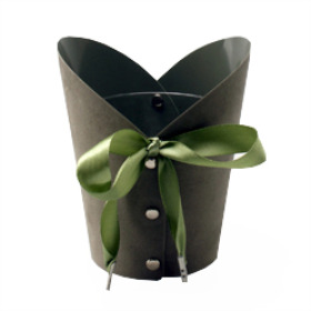 Potcover Chique 12cm olive green