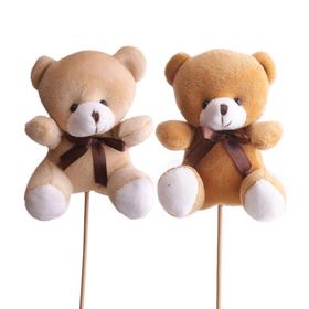 Bear Teddy 12x10cm on 50cm stick assorted x2