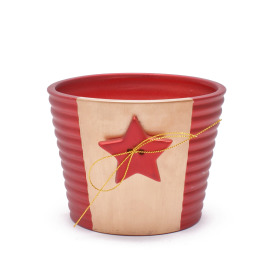 Pot Evening Star 4 in red