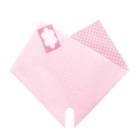 Hoes Doublé Dots Mini 27x27cm roze