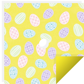Easter Gift 24x24in yellow with hole