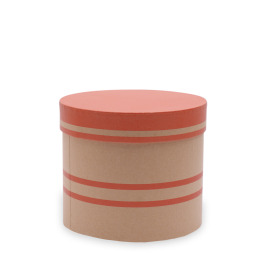 Hat box Duo Lines Ø15xH13cm red