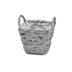 Basket Tess 15x15 H14 cm gray