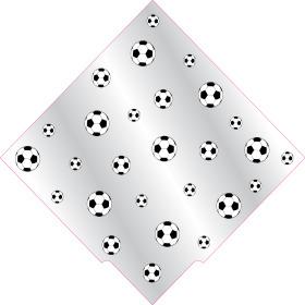 Sleeve Carré Football 35x35cm black/white