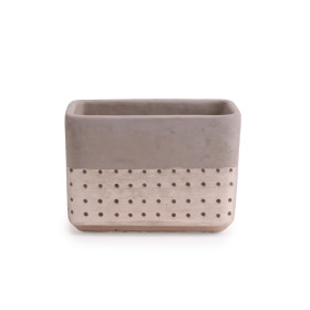 Concrete Pot Filigree 18.2x9.2 H13cm champagne