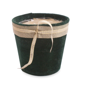 Pot Fine Velvet 5 in dark green