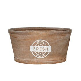 Wooden planter oval 22x18xH11cm