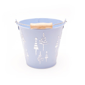 Zinc Pot x-Mas Tree Ø5 H4.7 in ice blue