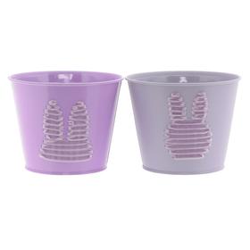 Pot zinc Sunny&Bunny ES12 lilac assorted x2