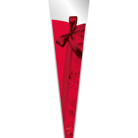 Ribbon & roses 25x6x1 in red
