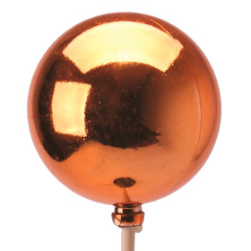 Christmas Ball Shiny 6cm on 50cm stick copper