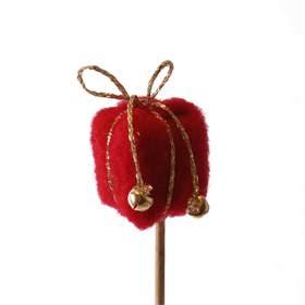 Gift Nieve 3cm on 10cm stick red
