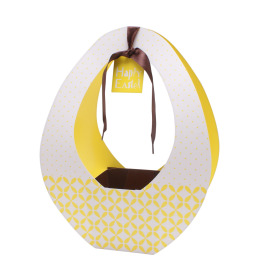 Easter gift bag Festival 26x12x35cm yellow