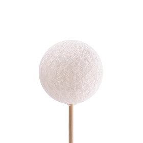 Deco Ball Thread 6cm on 50cm stick white