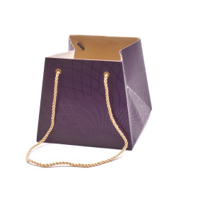 Carton bag Rising Sun 13/13x17/17x15cm purple