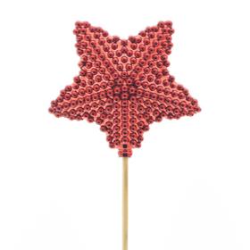 Star Blinkle 8.5cm on 50cm stick red