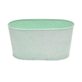 Zinc Oval Honeycomb 9.4x4.7xh4.7 in green