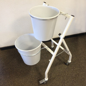 Bucket display KP2 41.5x39.5x83cm white
