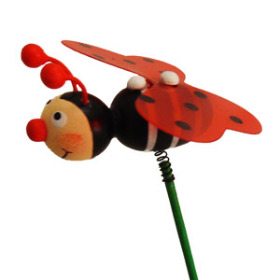 Bee Lady 3 in on 20 in stick red