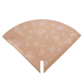 Sleeve Floral Stamp 35x35cm natural