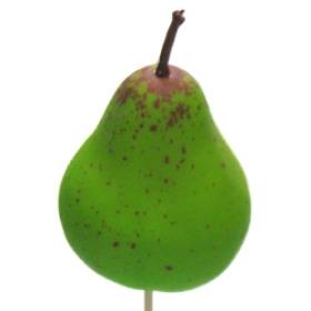 Fruit Pear 6cm on 50cm pick green