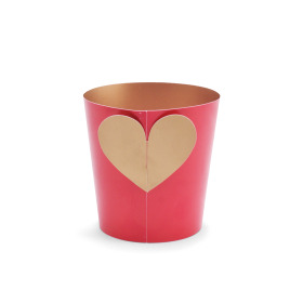 Potcover Crystal Love ES12 rood/goud
