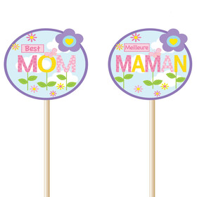 Best Mom 8cm on 50cm stick (french/english)