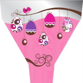 Easter Tree 21x17x5 in pink