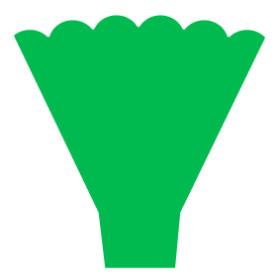 Hoes Maxima 54x35x10cm groen